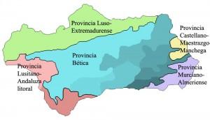 Carte des provinces corologiques - Andalousie